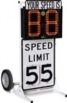 Lightcast radar speed sign dolly 2mph - 99mph