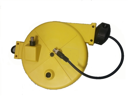 Rg58 Coaxial Retractable Cable Yellow Reel 25 Foot Lightcast