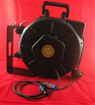 Retractable Speakon Stereo Audio Cable Reel - 25' foot - Audio Reels - Audio Reels by Lightcast