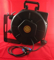 Retractable Speakon Stereo Audio Cable Reel - 50' foot - Audio Reels - Audio Reels by Lightcast