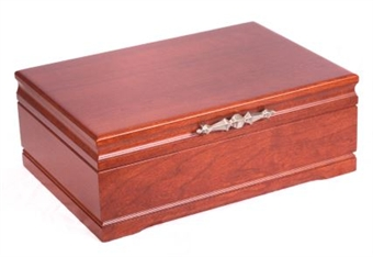 Solid Cherry Wood Jewelry Chest
