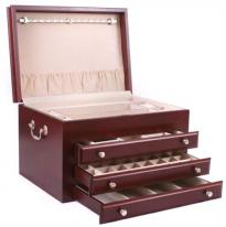Large Solid Hardwood Jewelry Chest