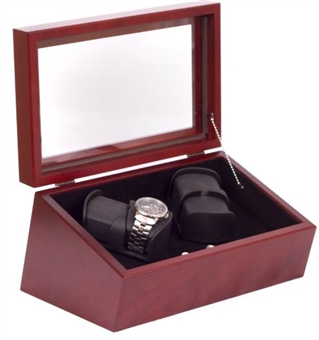 Four Unit Solid Wood Programmable Watch Winder