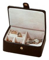 Leather Travel Jewelry Case, Cufflink Ring Earring Box