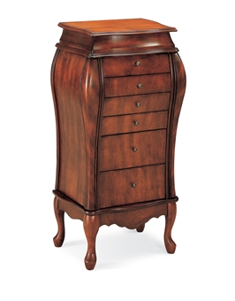 floor standing jewelry armoire in traditional design