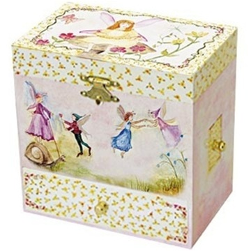 Childs Fairy Jewelry Box Fairies Music Box Gift