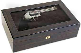 Ebony Locking Display Gun Box