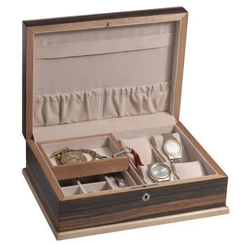 sc 1 st  Chasing Treasure & Mens Executive Jewelry Valet Box in Okume Wood with Maple Edges Aboutintivar.Com