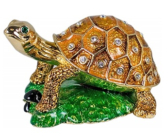 Sitting Turtle Collectible Trinket Box