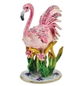 Pretty Pink Flamingo Trinket Box