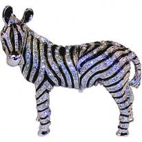Stunning Crystal Striped Zebra Trinket Box