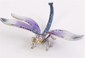Swarovski Bejeweled Dragonfly Trinket Box