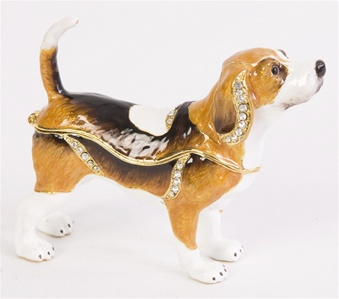 Swarovski Bejeweled Beagle Trinket Box