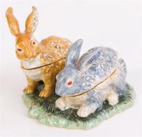 """Best Bunnies"" Rabbit Friends Trinket Box"