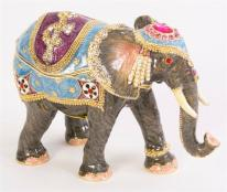 Katmandu Bejeweled Elephant Trinket Box