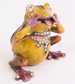 """Oh My Frog"" Trinket Box"