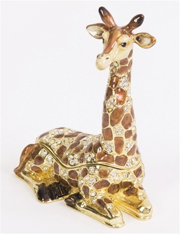 Sitting Giraffe Trinket Box