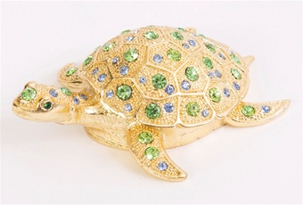 Bejeweled Sea Turtle Trinket Box