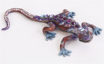 Prince of Jewels Gecko Trinket Box