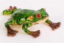 Pond Frog Trinket Box. 24k gold