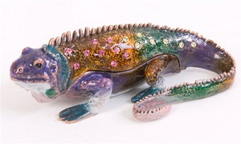 St Thomas Iguana Trinket Box
