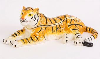Peaceful Tiger Trinket Box