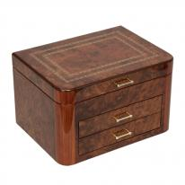 Elm Burl Luxury Jewelry Box
