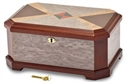 Cat Eye Burl Inlay Locking Jewelry Box