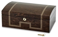 Tiger Eye Inlay Locking Jewelry Chest