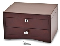 Mahogany Finish with Poplar Veneer Jewelry Box