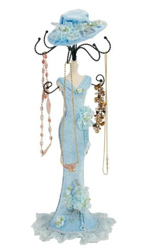 Jewelry Mannequin In Victorian Dress Jewelry Stand