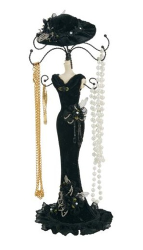 Victorian Lady Jewelry Mannequin Necklace Holder