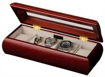 Cherry Wooden Watch Box & Glass Top, Mens or Womens