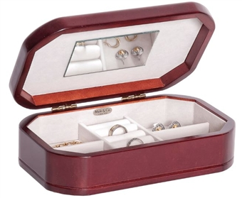 Beautiful Wooden Jewelry Box in Cherry Finish