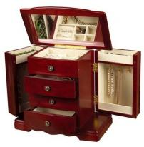 Musical Cherry Jewelry Box, Musical Wooden Jewelry Chest