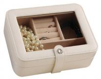 Small Travel Jewelry Case with Crystal Clasp