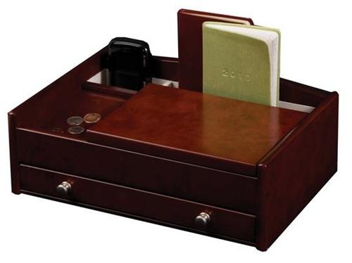 Dresser Top Valet Jewelry Box and Accessories Organizer