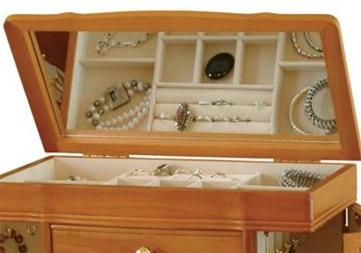 Large Oak Josephine Jewelry Box