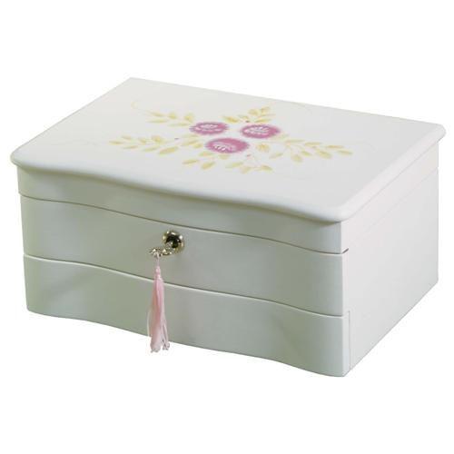 Locking Girls Jewelry Case Handpainted Jewlery Box Lock