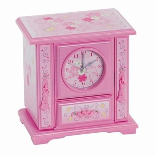 Jewelry Box Clock Dancing Ballerina Music Box