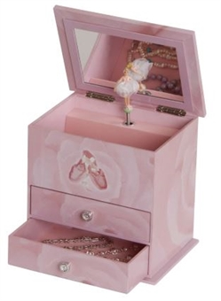 Casey Style Mele Girl's Musical Ballerina Jewelry Box