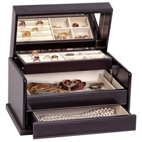 Juliette Style Wooden Jewelry Box in Java Finish