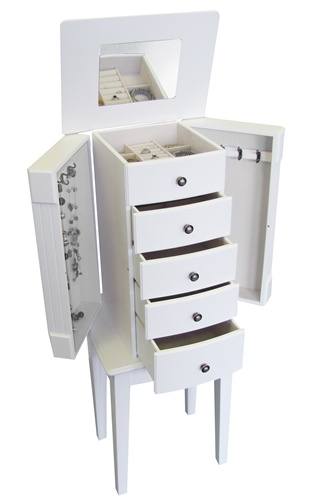 Floor Standing Jewelry Box Armoire