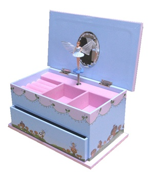 Little Girl Fairy Princess Jewelry and Music Box