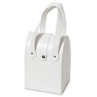 Small White Leather Purse Style Travel Jewelry Box