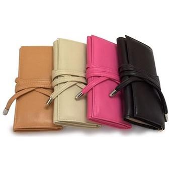 Fine Leather Travel Jewelry Clutch Case