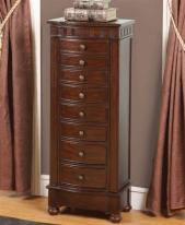 Large Modern Floor Standing Jewelry Box Cabinet with Eight Drawers