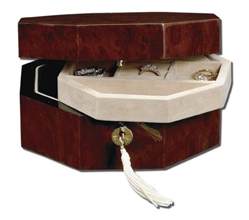 Small Jewelry Gift Box Jewelry Box with Lock Key