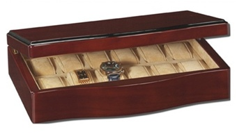12 Watch Case, Luxury Maple Watch Collectors Box, RaGar Wave