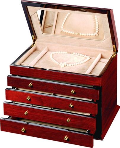 Teak Wood Jewelry Box Large Jewelry Chest